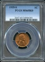 1935-S LINCOLN WHEAT CENT - MINT STATE 65 RD - CC635