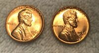 1960 D SMALL DATE AND LARGE DATE BU NICE BEAUTIFUL MS/BU RED LINCOLN CENT
