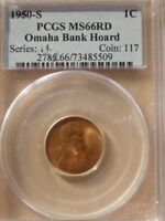 1950-S MINT STATE 66RD PCGS LINCOLN WHEAT BACK PENNY