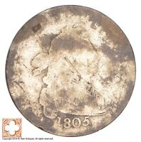 1805 DRAPED BUST DIME CONDITION: BLANK REVERSE 0688