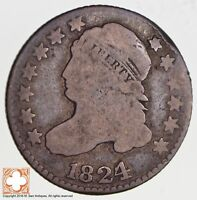 1824 CAPPED BUST DIME JR-1 2750