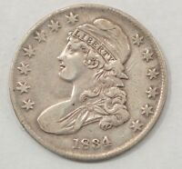 1834 CAPPED BUST SMALL DATE, STARS, LETTERS SILVER HALF DOLLAR Q99