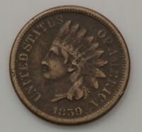 1859 INDIAN HEAD ONE CENT G85
