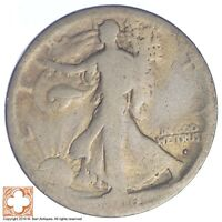 1916-S WALKING LIBERTY HALF DOLLAR 90 SILVER XB08
