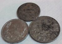 LOT OLD BULGARIA COIN 1925 2 LEV 1925 1 LEV 1940 20 LEVA BULGARIA OLD COINS FP