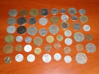 LOT OF 50 COINS FROM ALL OVER THE WORLD   NO 01