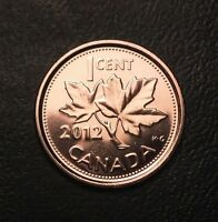 1  2012 CANADIAN PENNY CENT BU FROM RCM MINT NON MAGNETIC LAST YEAR BN339