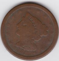 1851 HALF CENT, BRAIDED HAIR.   OLD U.S. COINAGE