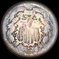 1866 2 CENT  GOLD BROWN TONE 212