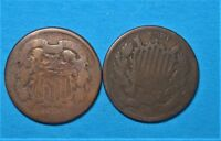 1864 & 1867 TWO CENTS