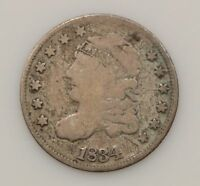 1834 CAPPED BUST SILVER HALF DIME G18