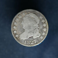 1827 CAPPED BUST DIME 10C VG  GOOD