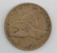 1858 FLYING EAGLE ONE CENT 562
