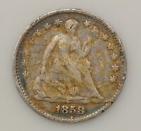 1858-P SEATED LIBERTY SILVER HALF DIME G84