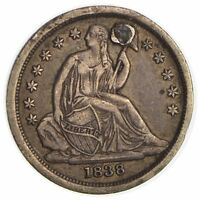 1838 SEATED LIBERTY SILVER DIME 3232
