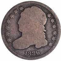 1836 CAPPED BUST DIME 5346