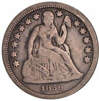 1856 SEATED LIBERTY SILVER DIME 5357