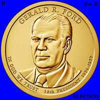 2016 D POS. B PRESIDENT GERALD FORD UNCIRCULATED PRESIDENTIAL DOLLAR