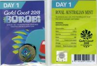 2018 GOLD COAST COMMONWEALTH GAMES BOROBI $1 COIN