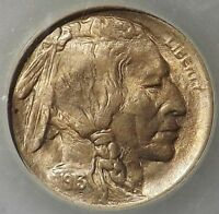 1913 5C TYPE 1 BUFFALO NICKEL MINT STATE        PQ BRILLIANT UNDERRATED BY SLAB