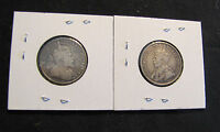 LOT OF 2 CANADA 25 CENTS SILVER COINS   1910 & 1912