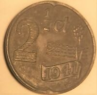 COIN. NETHERLANDS 1941 2 1/2 CT