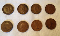 LOT OF 8   CANADA PENNY   1932 1933 1943 1945 1950 1951 1953 1955