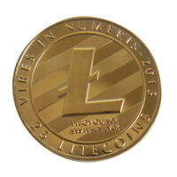 NEW TWO SIDES SILVER PLATED COMMEMORATIVE LITECOIN LITECOIN COLLECTIBLE J7I3T