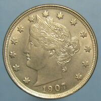 1907 LIBERTY NICKEL   LOVELY BU WITH LIGHT REVERSE TONING