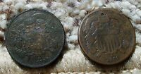 1868 & 1869 2 CENT PIECES-BOTH IN   CONDITION