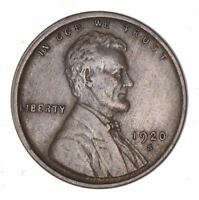 1920-S LINCOLN WHEAT CENT - CIRCULATED 7874