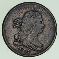1806 DRAPED BUST HALF CENT - CIRCULATED 6826