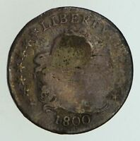 1800 DRAPED BUST DIME - CIRCULATED 5001