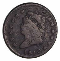 1810 CLASSIC HEAD LARGE CENT - CIRCULATED 1699