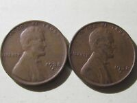 1938D & 1938S LINCOLN CENT WHEAT CENTS --- VG TO EXTRA FINE  COND - TOUGH DATES