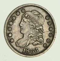 1833 CAPPED BUST HALF-DIME - CIRCULATED 8619
