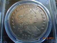 1799/8 DRAPED BUST SILVER DOLLAR, PCGS EXTRA FINE  DETAILS,  15 REVERSE STARS