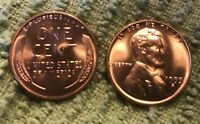 1955 S LINCOLN WHEAT CENT  MS/BU RED LINCOLN COIN  LOOKER