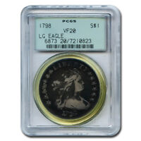 CERTIFIED DRAPED BUST DOLLAR 1798 VF20 PCGS LG EAGLE