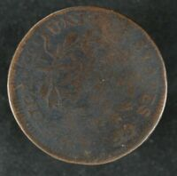 1798 DRAPED BUST LARGE CENT 1C AG / G ABOUT GOOD TO GOOD 5010