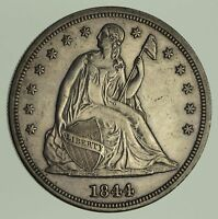 1844 SEATED LIBERTY SILVER DOLLAR - CIRCULATED 9021