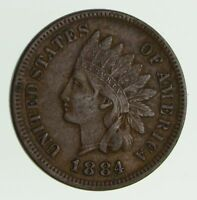 1884 INDIAN HEAD CENT - CIRCULATED 7529