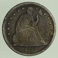 1843 SEATED LIBERTY SILVER DOLLAR - CIRCULATED 9293