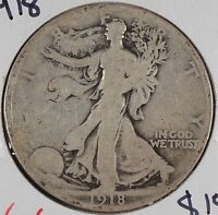 1918 50C WALKING LIBERTY HALF DOLLAR GOOD CONDITION 174094