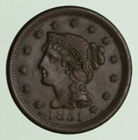 1851 BRAIDED HAIR LARGE CENT - CIRCULATED 7471