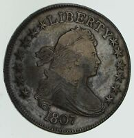 1807 DRAPED BUST HALF DOLLAR - CIRCULATED 4584