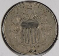 1869 5C SHIELD NICKEL EXTRA FINE 176665