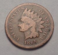 1865 U.S.  INDIAN HEAD CENT BOLD DATE COINSEE PHOTOSTOUGH