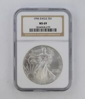 MINT STATE 69 1996 AMERICAN SILVER EAGLE - NGC GRADED 8340