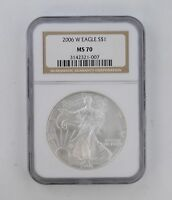 MS70 2006-W AMERICAN SILVER EAGLE - NGC GRADED 8347